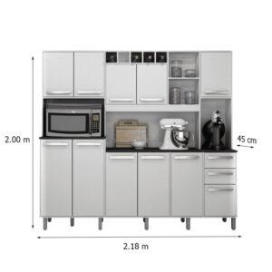 Armário de Cozinha Petra Branco Valdemoveis 2
