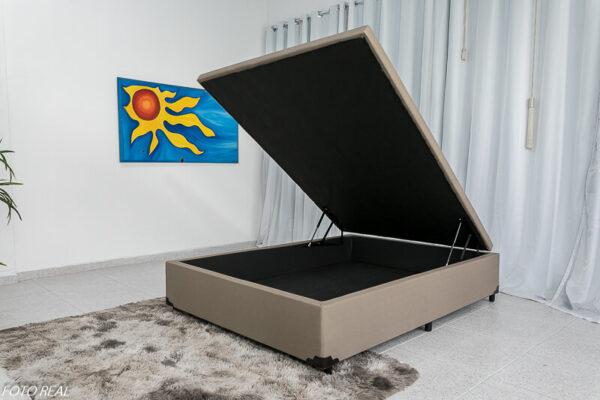 Base Box Baú Blindado Korino Bege - 138X 188
