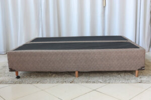 Base Box Queen Bipartida Coimbra Marrom Umaflex 158x198