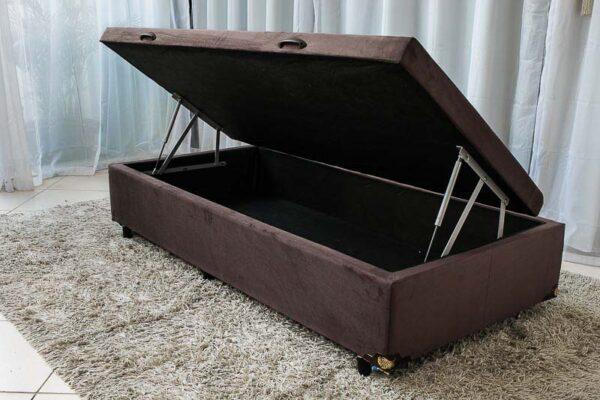 Box baú de solteiro Sued Marrom 88X188
