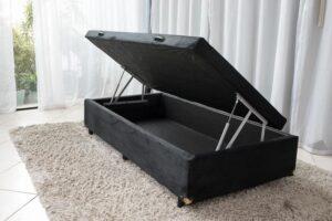 Box baú de solteiro Sued Preto 88X188