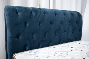 Cabeceira Casal Lavínia Sued Azul - Largura 1.40m