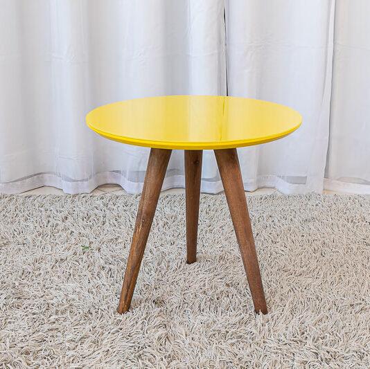 Mesa Decorativa 40 cm Amarelo Tonhão