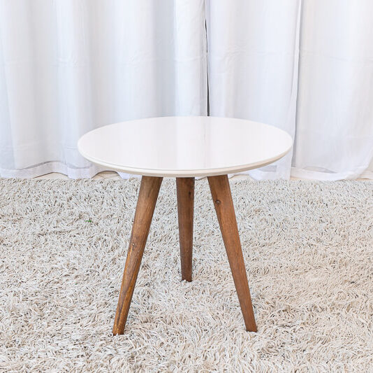 Mesa Decorativa 40 cm off White Tonhão