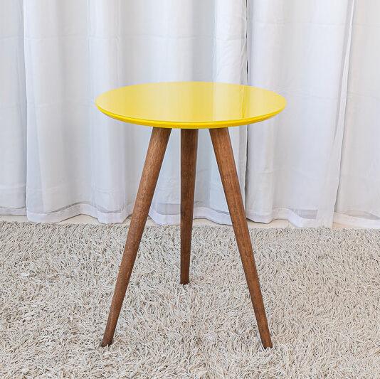 Mesa Decorativa 50 cm Amarelo Tonhão