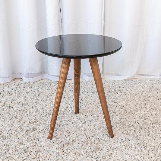 Mesa Decorativa 50 cm Preto Tonhão