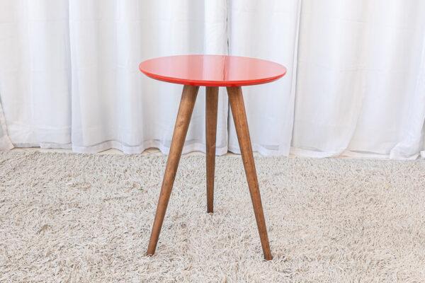 Mesa Decorativa 60cm Vermelho Tonhão