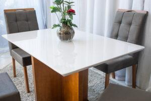 Mesa de Jantar Camile Mel Vidro Off 4 Cadeiras Madeira Bia Marrom 05 - 2