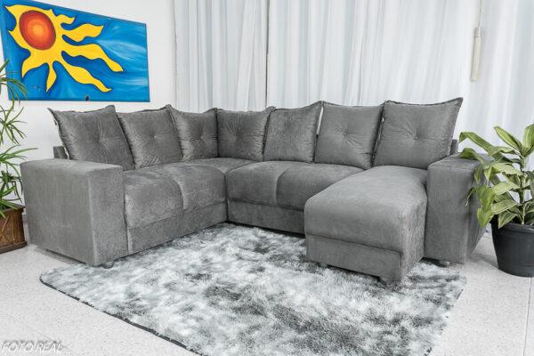 Sofá Canto com chaise 5070 Cinza 304-114