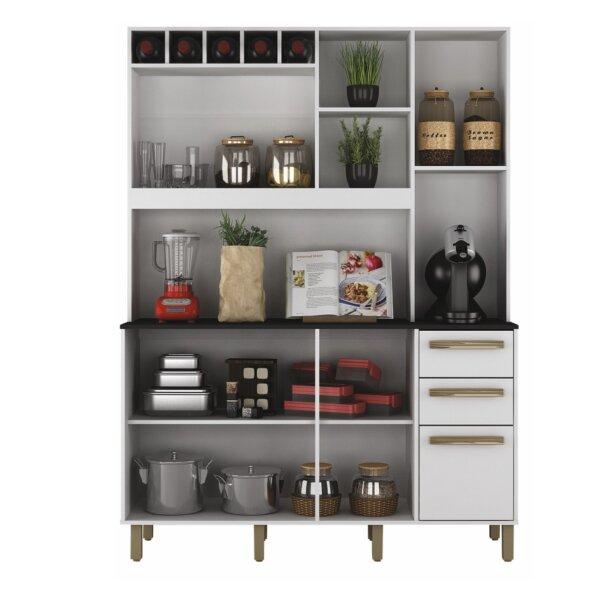 por dentro Armário de Cozinha Granada Castanho-Branco Valdemoveis